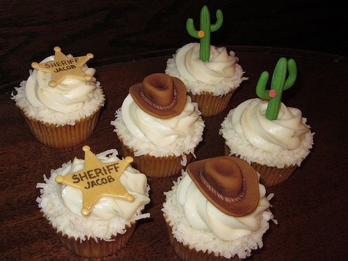 Western Cowboy Themed Cupcakes