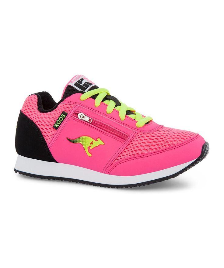Pink & Lime Speed League Sneaker - Kids