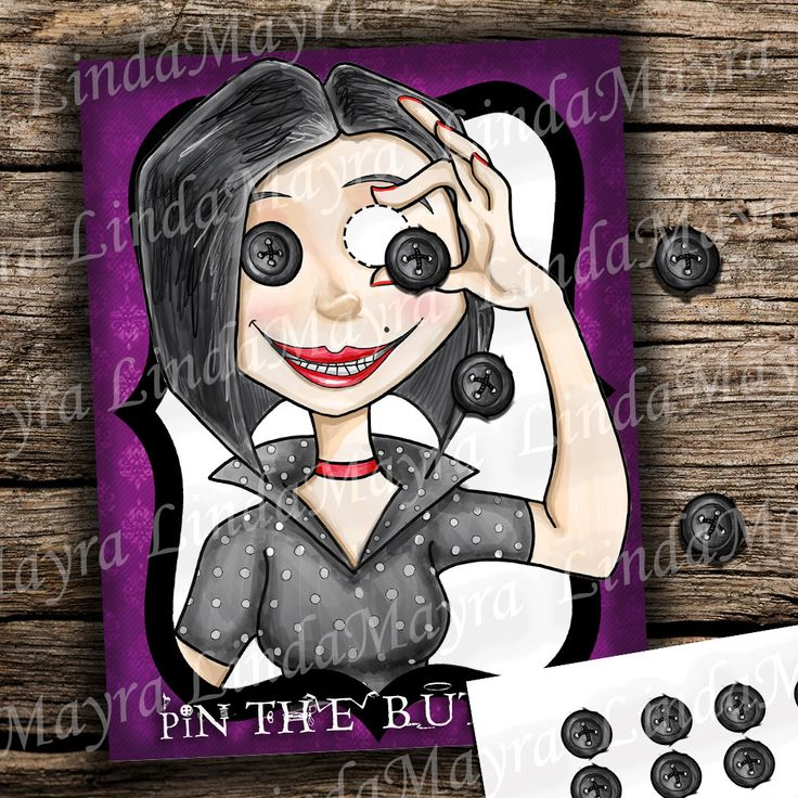 Instant download Coraline Birthday theme Party Game Pin the by LindaMayra on Etsy https://www.etsy.com/listing/495659692/instant-download-coraline-birthday-theme