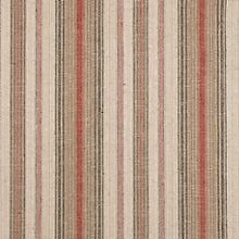 Buy John Lewis Pianosa Stripe Curtain, Soft Red Online at johnlewis.com