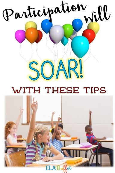 improving the classroom participation during english 8 simple tips to encourage student participation during i hope these tips will help improve participation in your class classroom activities and.