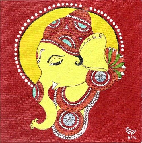 Kerala Mural painting of Ganesha