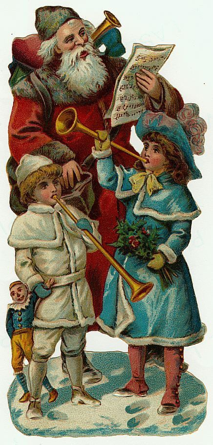 Image result for vintage father christmas cards