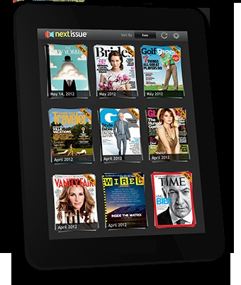 Next Issue - premium subscription ($14.99/mo) allows you to read tons and tons of newsstand magazines on your iPad.  (this is a BIG part of my plan to de-paper and de-clutter the house!)