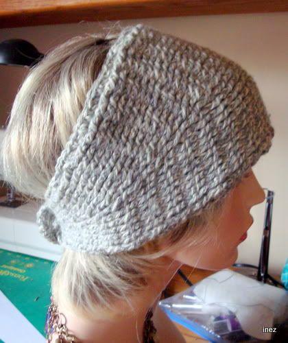 Classic Inez: Knitted-Look Flowered Headband Pattern (Free)