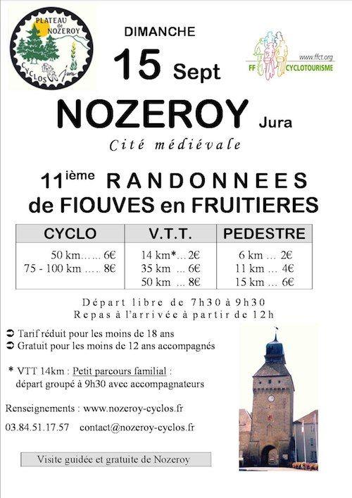 Randonnée de Fiouves, cité médiévale 2013 à Nozeroy. Le dimanche 15 septembre 2013 à Nozeroy.