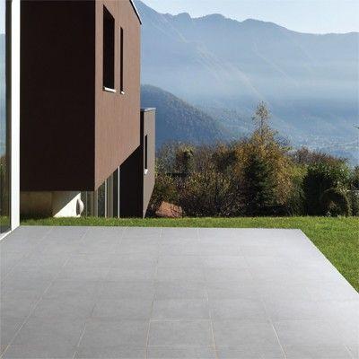 Bradstone Mode porcelain floor tiles Dark Grey Textured 600 x 600 paving slabs x 20 60 Per Pack