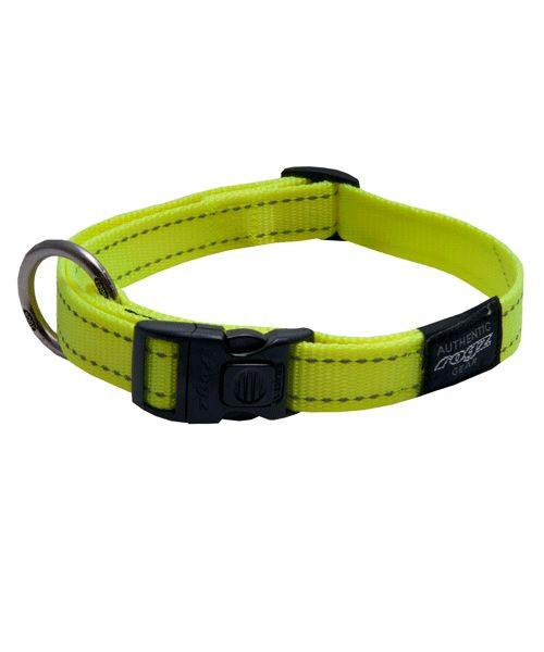 ROGZ UTILITY DOG COLLAR - DAYGLO. Available from www.nuzzle.co.za