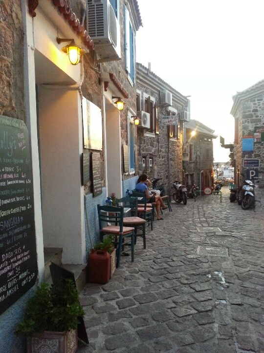 Molyvos, Lesvos, Greece. Heard its one of the top islands to dine at