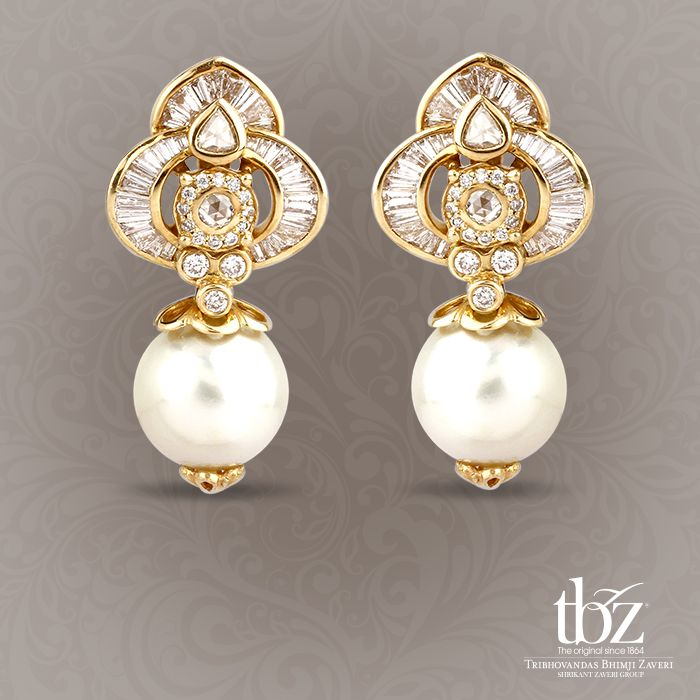 Earrings of diamonds and pearls together. One of the rarest possessions in the world. Just like you.