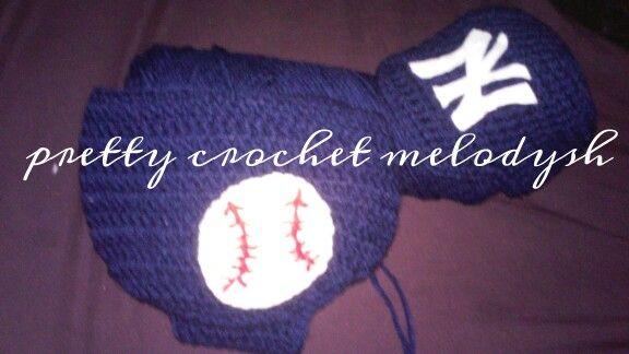 Dodgers baby set crochet