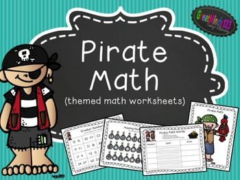 Worksheets pirate math math worksheets worksheets and teacher pay