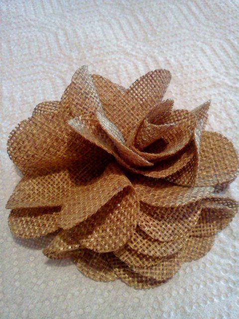 25 best burlap flower tutorial ideas on pinterest for How to make hessian flowers