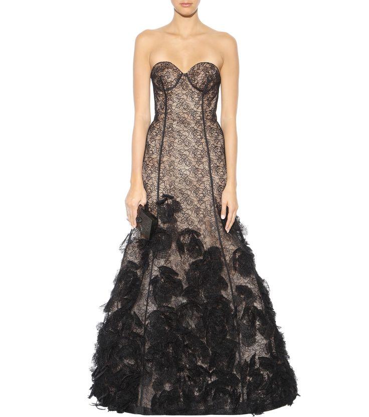 mytheresa.com - Verzierte Spitzenrobe ♦ Oscar de la Renta ✽ mytheresa - Luxury Fashion for Women / Designer clothing, shoes, bags
