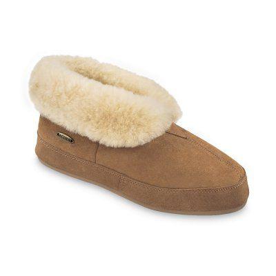 Acorn Mens Sheepskin Bootie II Slippers Tan, Size: 12 - A10782BEZM12, Durable