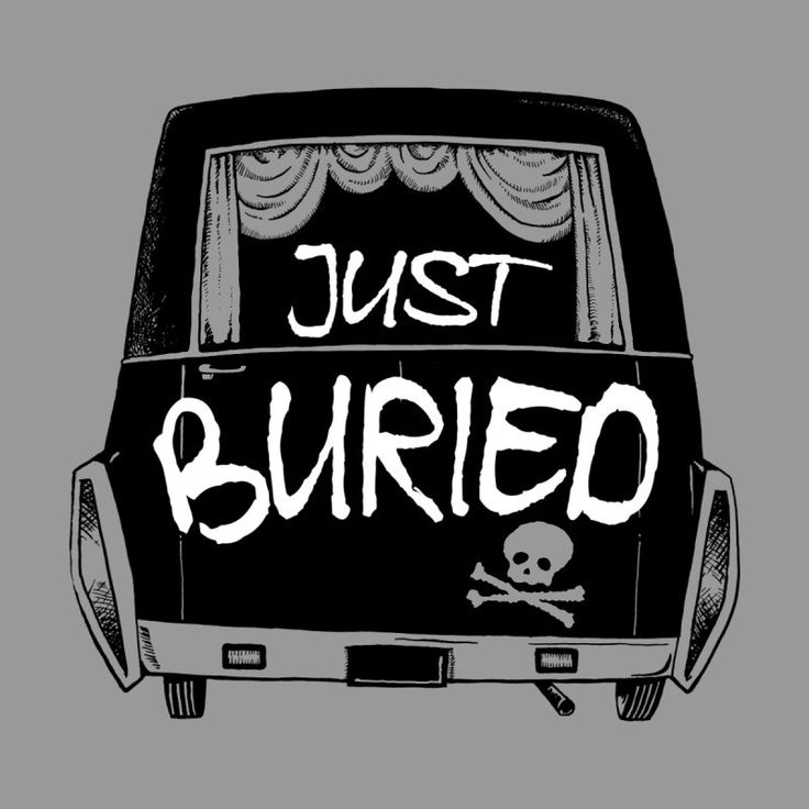 Just Buried Hearse car by Cheap Chills Fan Club Funny