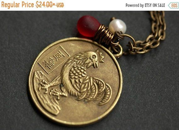 SUMMER SALE Rooster Chinese Zodiac Necklace. Chinese Astrology Necklace. Asian Horoscope Necklace. Rooster Necklace. Chinese Necklace Shēngx by TheTeardropShop from The Teardrop Shop. Find it now at https://ift.tt/1JaTFKR!