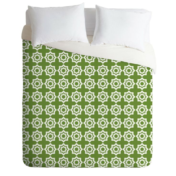 Khristian A Howell Moroccan Mirage Green Duvet Cover | DENY Designs Home Accessories
