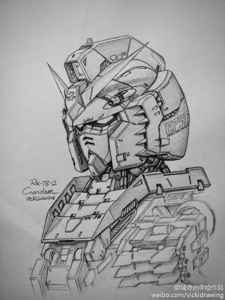 Gundam and Mobile Suit Pencil Drawings by Vicki via PIXIV - Gundam Kits Collection News and Reviews