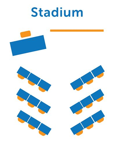 Stadium Desk Arrangement