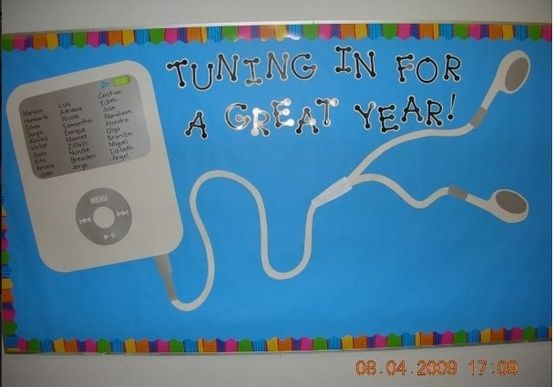 IPOD Welcome Back Bulletin Board by rlandry14