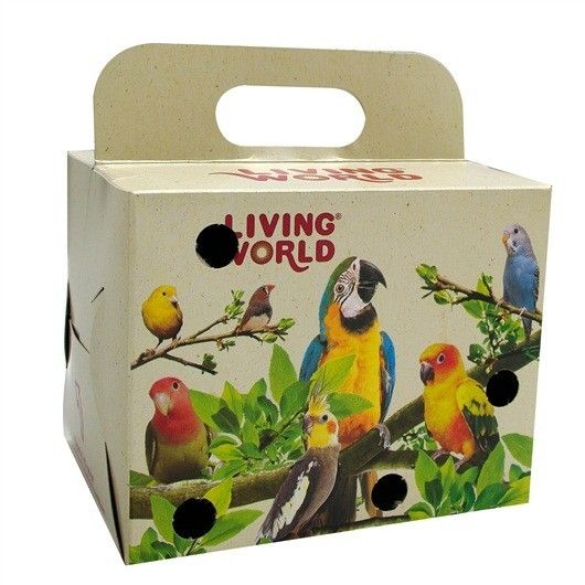 Caja para Transporte LIVING WORLD - #FaunAnimal proporciona una forma segura y libre de preocupaciones para el transporte de pequeñas aves.