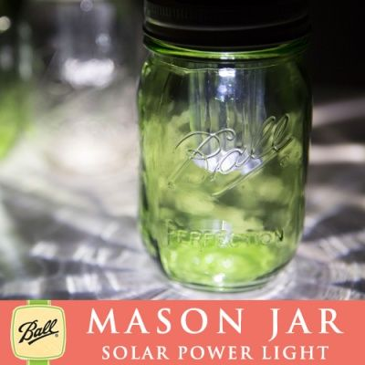画像2: ソーラーメイソンジャー Solar Ball Mason jar 太陽光発電 限定グリーン