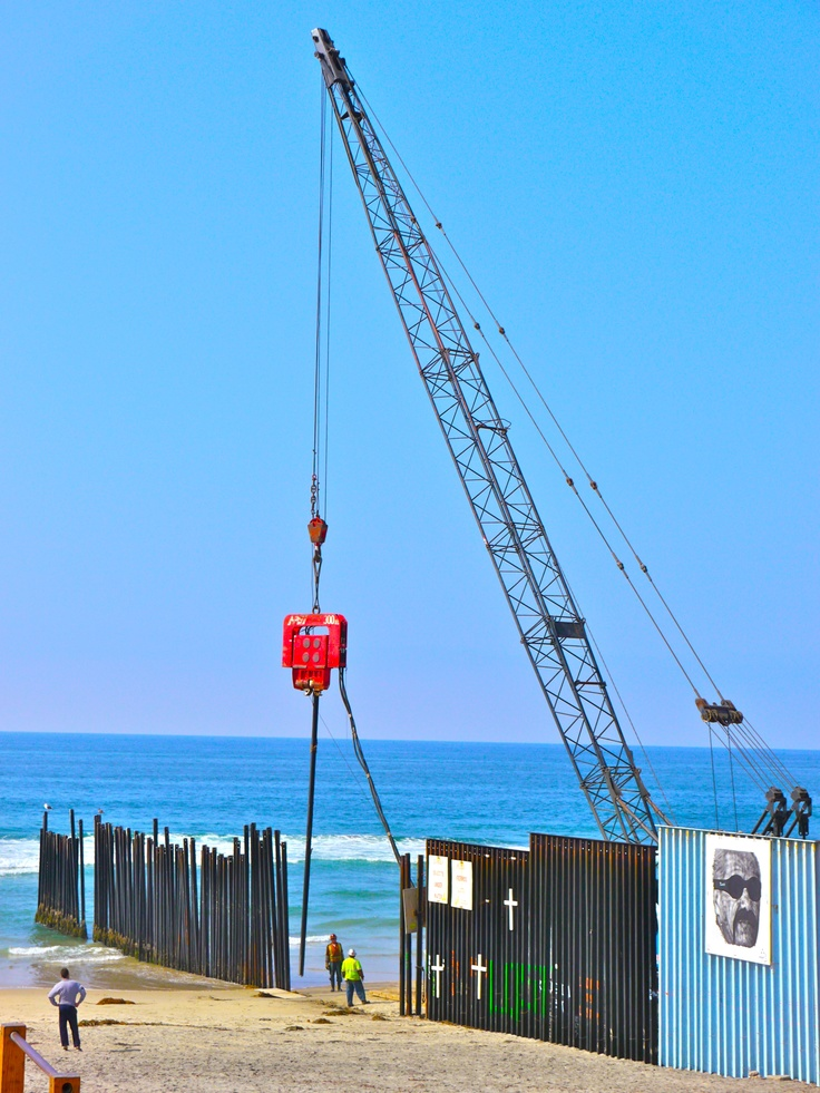 Border wall separating the United States from Mexico at Tijuana Beach. (Photo by Raul Vasquez)