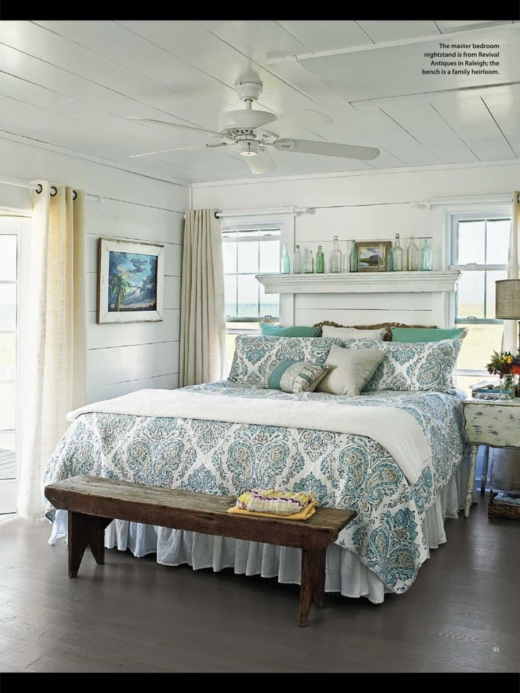 Cottage style bedroom My Beach Cottage Decorating Ideas