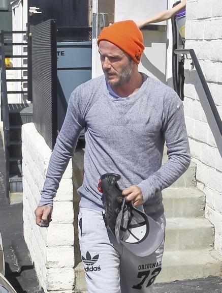 Perto dos 40 anos, David Beckham aparece com barba branca
