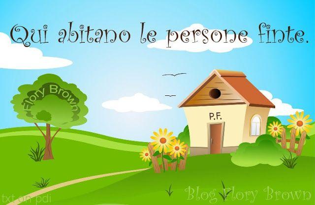 """""""Qui abitano le persone finte."""" (Flory Brown) - #frasi #metafora #pensieri #semplici #strani #disegni #vector #casa #fattoria #colline"""