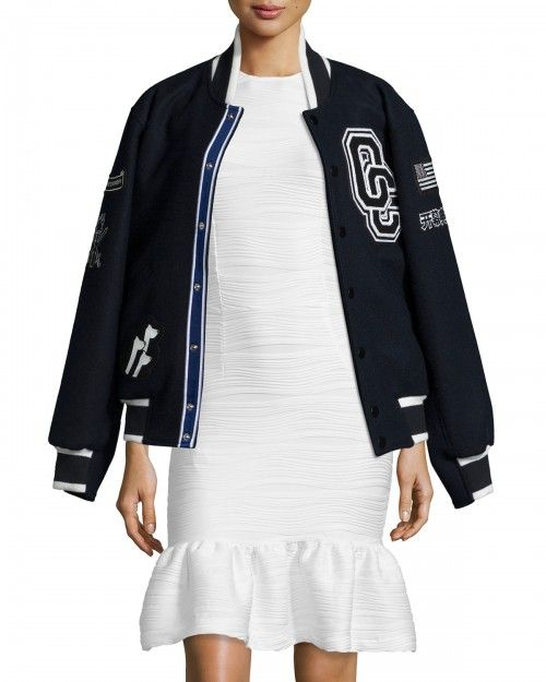 Opening Ceremony Kennel Club Varsity Jacket Midnight Navy Mul | Coat, Jacket and Clothing