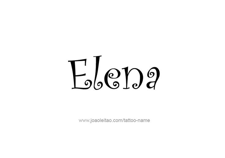 Page with 31 different designs / fonts style for the name Elena. Make Elena female name tattoo. Choose your favorite name design from this list. Share your name