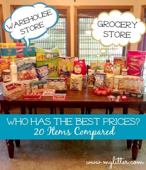 Warehouse Store Vs. Grocery Store – Who has the better prices? Mylitter.com