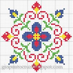 ♥ Korsstygns-store ♥: BEAUTIFUL colorful floral pattern CROSS STITCH. Several…