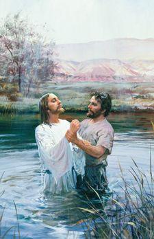 """John the Baptist Baptizing Jesus"" - Harry Anderson"