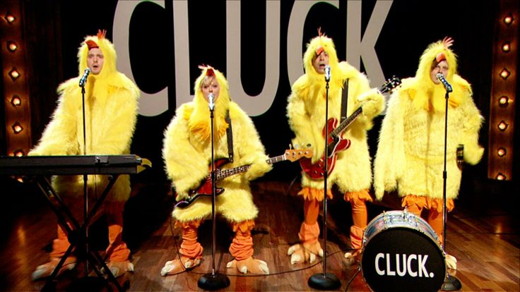 """All-Clucking Version of Fun.'s """"Some Nights"""" (Jimmy Fallon, Amy Poehler & Michael Buble)"""