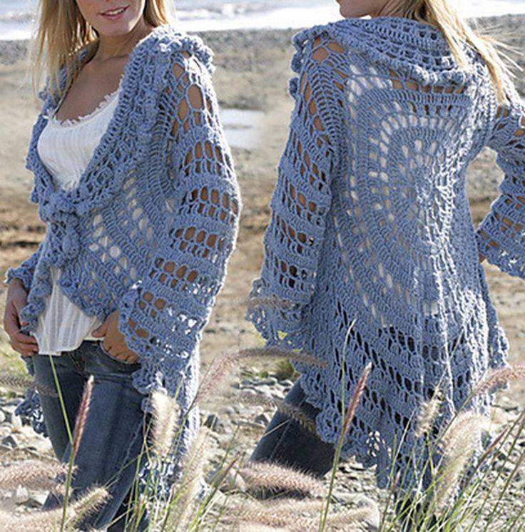 Crochet Jacket Free Pattern Garn Studio