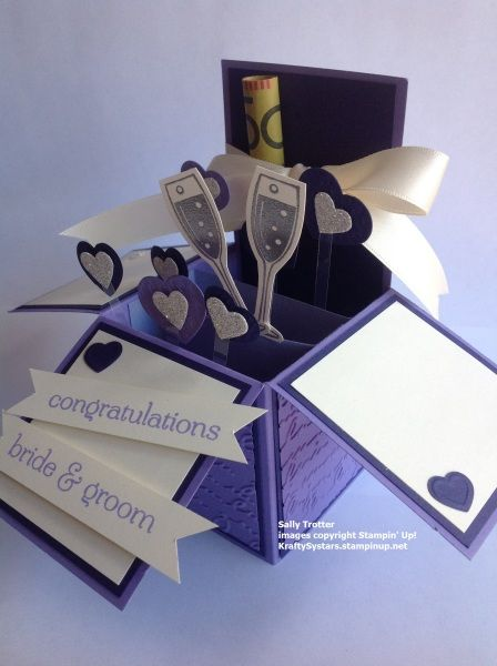 Wedding Card in a Box - Sally Trotter, Card in a Box, wedding, Lovely Lilac, Concord Crush, Very Vanilla