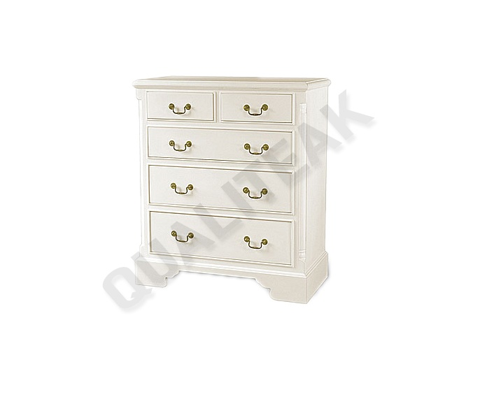 Please contacts us for asking detail about Georgian White 5 Drawer Chest of drawers