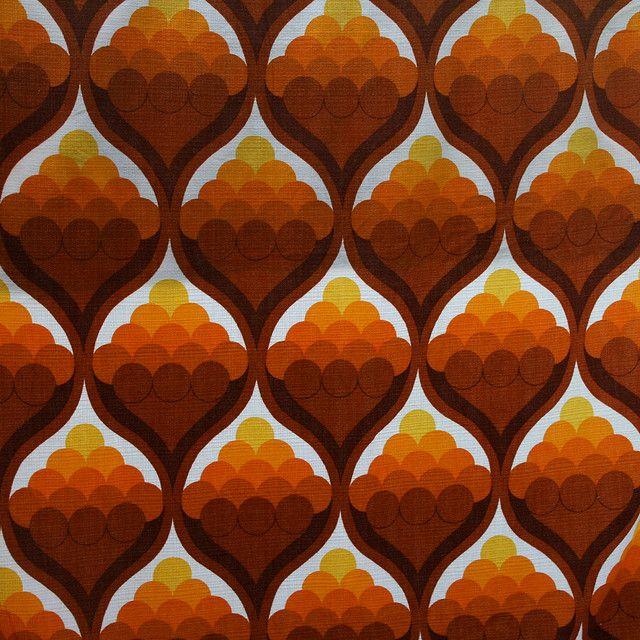 70s Pattern Fabric