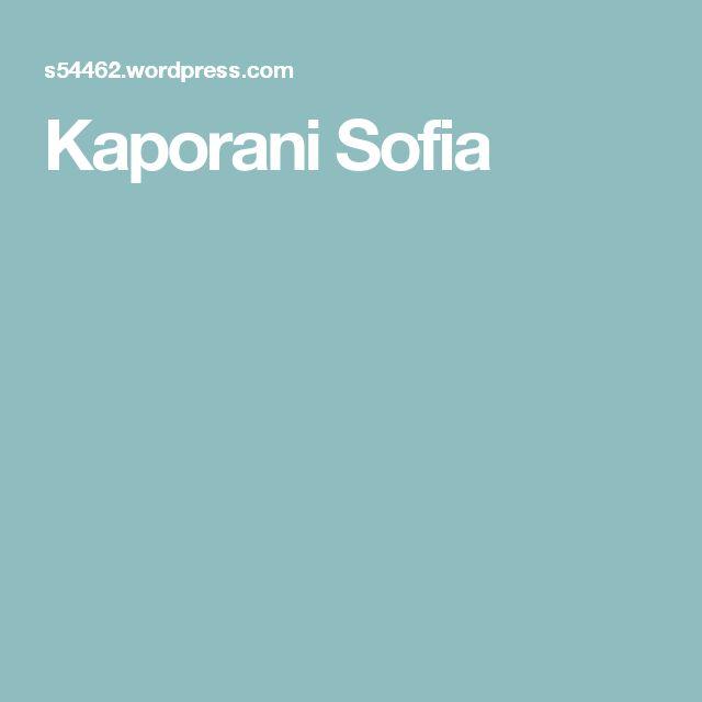 Kaporani Sofia