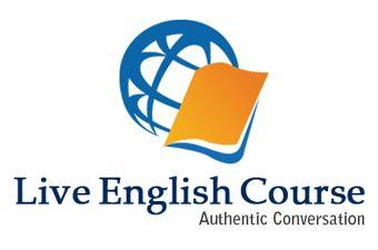 Live English Course  Attractive Logo Designed.