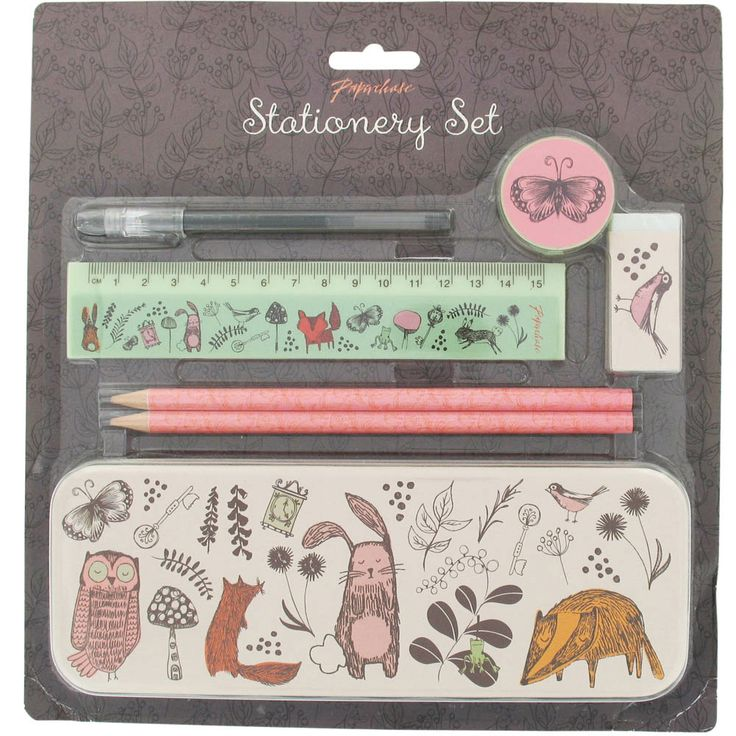 woodland stationery set from Paperchase