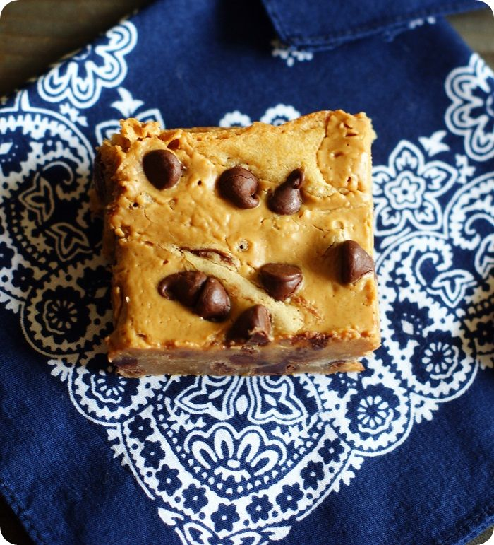 peanut butter swirl chocolate chip blondies ::: i'm not even kidding ...