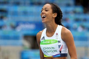 Katarina Johnson-Thompson, happy at clearing 1.95m.