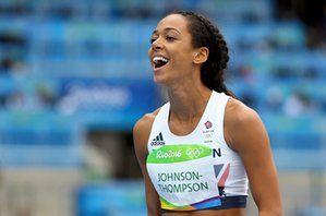 Katarina Johnson-Thompson, happy at clearing 1.95m.