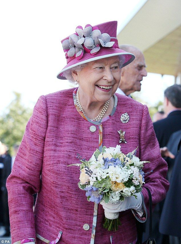 One onlooker said: 'The Queen was asking me about the history of the project and the relationship with the Clydesdale horses. 'The Duke was particularly interested in the internal structure, the engineering, the fabrication that went on'