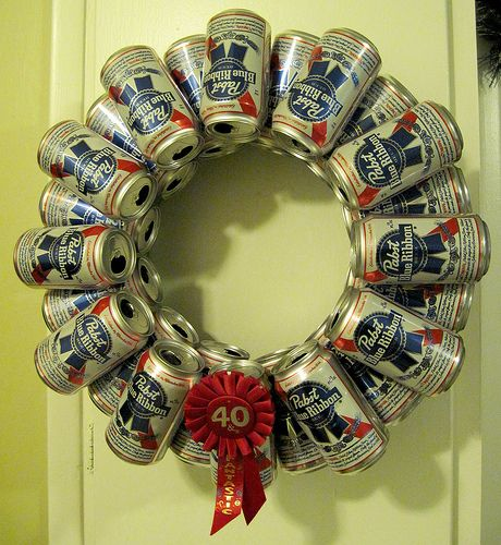 beer can wreath | this is totally my favorite Christmas deco… | Flickr