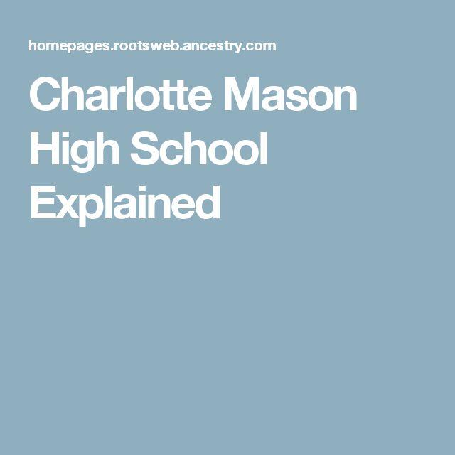 Charlotte Mason High School Explained